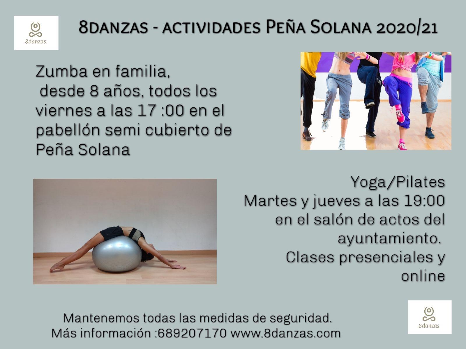 Actividades de yoga y zumba 2020
